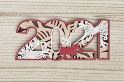 New Year laser cut file - 2021 - Year of the Ox Product Image 4