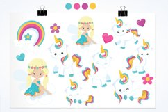 Baby Unicorn graphics and illustrations Product Image 2