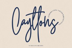 Cayttons Signature Font Product Image 1