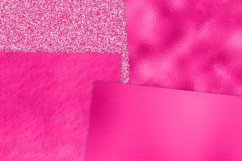 Hot Pink Foil Textures Digital Paper Product Image 3