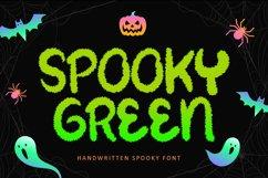 Spooky Green - Handwritten Halloween Font Product Image 1