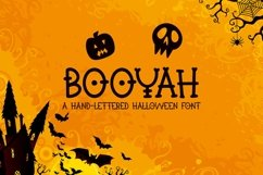 Web Font Booyah - A Hand-Lettered Halloween Font Product Image 1