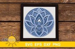 3D Layered SVG Mandala Lotus SVG 4 layers Product Image 1