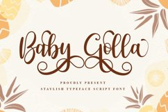 Baby Golla - Beuty Script Font Product Image 1