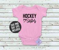 Hockey Sister SVG - Hockey Shirt Cutting File Product Image 3