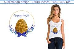 Happy Easter Sublimation,Easter Sublimation Design,Floral Product Image 1