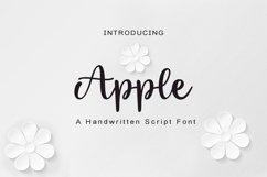 Apple - handwritten script font Product Image 1