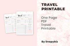 Travel Printable   Travel Planner   Travel Schedule Product Image 3