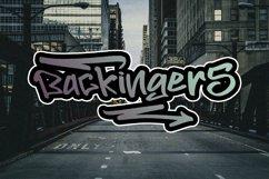 BACKINGERS - Graffiti Font Product Image 4