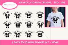 54 Back 2 School SVGs Mega SVG Bundle   First day school Product Image 3