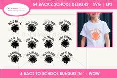 54 Back 2 School SVGs Mega SVG Bundle   First day school Product Image 4