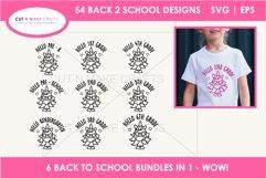 54 Back 2 School SVGs Mega SVG Bundle   First day school Product Image 5