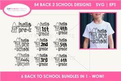 54 Back 2 School SVGs Mega SVG Bundle   First day school Product Image 6