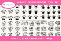 54 Back 2 School SVGs Mega SVG Bundle   First day school Product Image 2