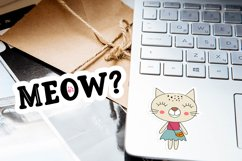 Doodle cats printable cricut stickers. PNG, JPG, EPS. Product Image 4
