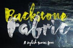 Backstone Fabric Font Product Image 1