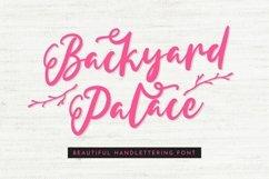 Web Font Backyard Palace - Beautiful Handlettering Font Product Image 1