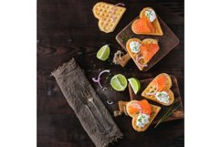 Wafer with salted salmon Product Image 1