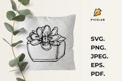 Flower pot - Flower plant - Flower clip art - House plant Product Image 7