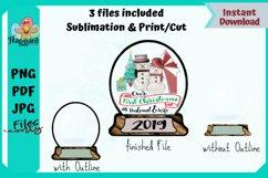 Snowglobe Sublimation Shape Product Image 1