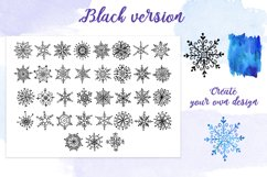 Watercolor snowflakes Product Image 3