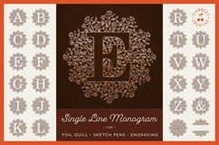 Foil Quill | Single Line | Sketch Mandala Monogram Alphabet Product Image 1