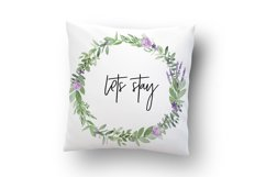 Greenery Lavender Wedding Watercolor Clip Art Illustrations Product Image 5