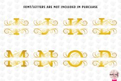 Split Monogram Swirls - A to Z Split Monograms Product Image 2