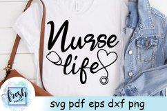 Nurse Life Svg Nurse Svg Stethoscope Heart SVG Product Image 1