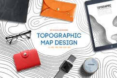 24 Vector Topographic Maps. Paper cut shapes. Product Image 1