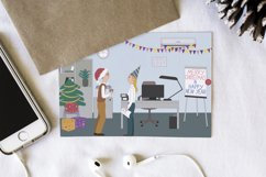Christmas and New Year celebration in the office cards Product Image 2