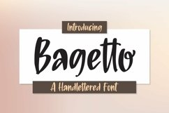 Web Font Bagetto - A Handlettered Font Product Image 1