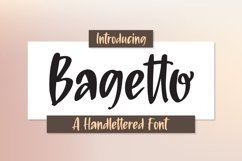 Bagetto - A Handlettered Font Product Image 1