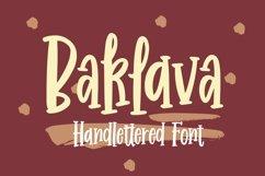 Web Font Baklava - Handlettered Font Product Image 1