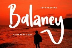 Web Font Balaney - A Display Font Product Image 1
