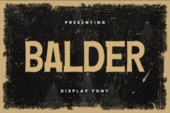 Web Font Balder Font Product Image 1