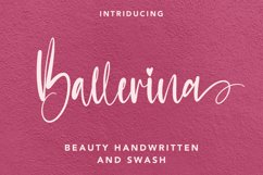 Ballerina - Handwritten Font with Swash Product Image 1
