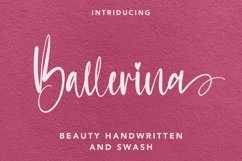 Web Font Ballerina - Handwritten Font with Swash Product Image 1