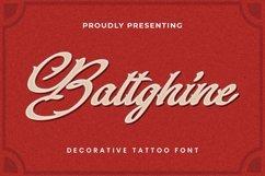 Web Font Baltghine - Tattoo Font Product Image 1