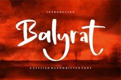 Balyrat - A Stylish Handwritten Font Product Image 1