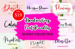 Font Bundle - 20 Handwritten Fonts for Crafters Product Image 1