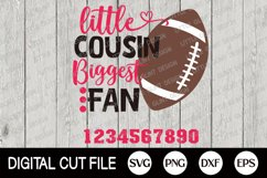 Football SVG, Little brother biggest fan SVG, Football Fan Product Image 2