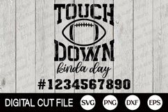 Football SVG, Touchdown SVG, Football Fan, Football Player Product Image 2