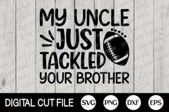 Football SVG, Football Player Uncle, Football Fan Shirt, DXF Product Image 1