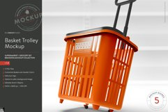 Shopping Rolling Basket / Trolley Branding Mockup Product Image 1