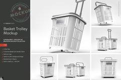 Shopping Rolling Basket / Trolley Branding Mockup Product Image 4