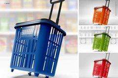 Shopping Rolling Basket / Trolley Branding Mockup Product Image 2