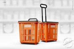 Shopping Rolling Basket / Trolley Branding Mockup Product Image 3