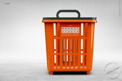 Shopping Rolling Basket / Trolley Branding Mockup Product Image 5