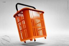 Shopping Rolling Basket / Trolley Branding Mockup Product Image 6